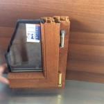 Spaccato infisso a 2 guarnizioni e doppio vetro lato interno