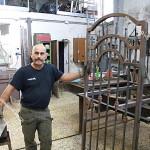 Cancello in ferro pronto per la verniciatura e zincatura