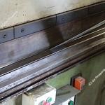 Dettaglio pressa per piegatura del ferro