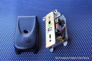 Serratura per cancelli elettrici Cisa, vista interna senza coperchio